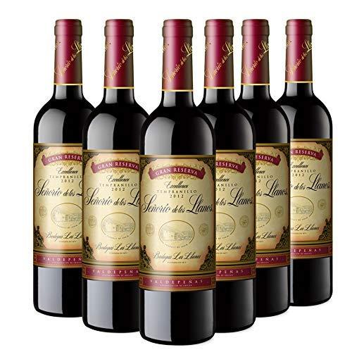 Señorío de los Llanos Gran Reserva Vino Tinto - 6 Botellas x 750 ml