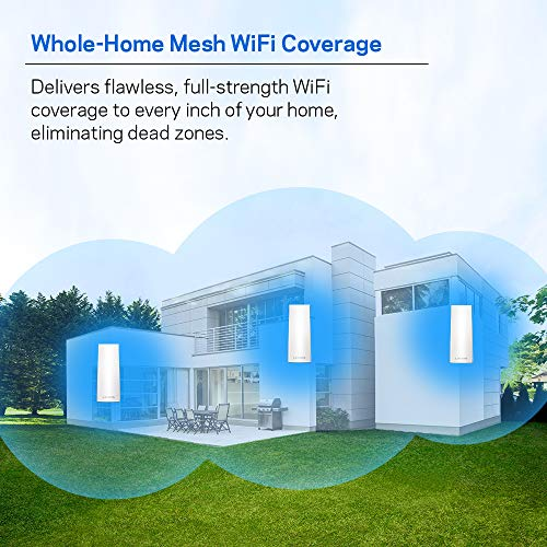 Linksys Velop Mesh R   outer (Tri-Band Home Mesh WiFi System for Whole-Home WiFi Mesh Network) 3-Pack, White
