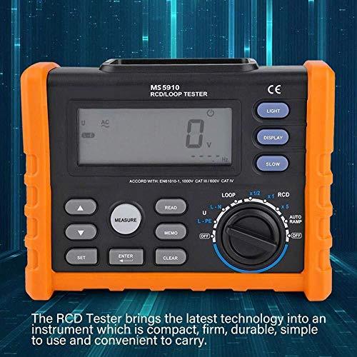 YINGGEXU Multímetro MS5910 (PM5910) Medidor de resistencia digital RCD Loop Probador de resistencia multímetro w/pantalla LCD retroiluminada