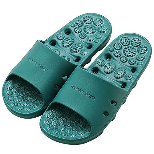 Pantofole massaggianti per piedi e massaggi, alla moda, ad asciugatura rapida, traspiranti, per uomini e donne, verde, M
