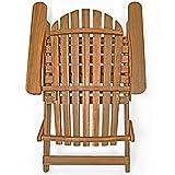 Sonnenstuhl Adirondack Akazienholz klappbar abgerundete Armlehnen Deckchair Liegestuhl Holzstuhl Gartenstuhl - 3