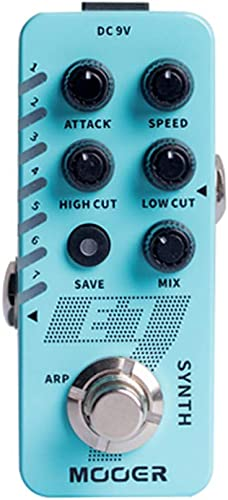 2021 MOOER E7 online sale Polyphonic Guitar Synth Effects Pedal with Trumpet,Organ, Sea wave, Weeyo, Saw wave, discount 8 bits, EDM, Pad Synthesizer Effects online
