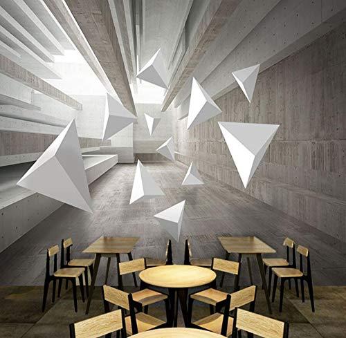 3D geometría sólida espacio cemento papel tapiz ladrillo imitación ladrillo fondo pared industrial viento oficina empresa tecnología papel tapiz 430 cm * 300 cm