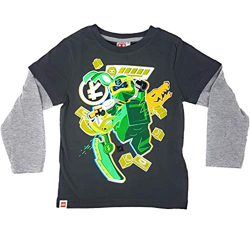 LEGO Ninjago Langarmshirt Jungen (Dunkelgrau, 128)