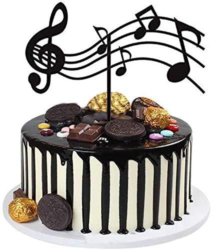 Decoración para cupcakes con notas musicales, decoración de cupcakes, guitarras, pasteles, temática musical, temática de cumpleaños