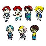 KANGDILE 7 unids BTS Pins BTS BTS Merchandise Set BTS Army Bangtan Linda Pin de Solapa de Metal para niños Ropa de Mujer Ropa Mochila BTS Regalos