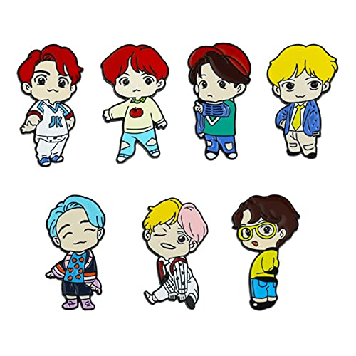 KANGDILE 7 unids BTS Pins BTS BTS Merchandise Set BTS Army Bangtan Linda Pin de...