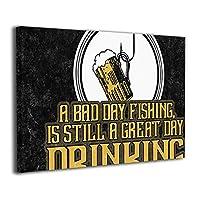Skydoor J パネル ポスターフレーム A Bad Day Fishing Is Still A Great Day Drinking Fishing インテリア アートフレーム 額 モダン 壁掛けポスタ アート 壁アート 壁掛け絵画 装飾画 かべ飾り 30×20