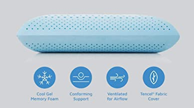 YOZO Cool Gel Pillows Memory Foam Pillows Cooling Gel Pillows Neck Support Hypoallergenic Orthopedic Ergonomic Pillow for Side Back Stomach Sleepers Pillows Neck Pain and Neck Back Cervical Pain (1)