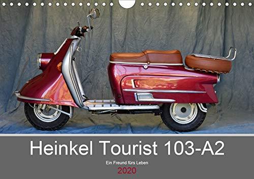 Heinkel Tourist 103-A2 Ein Freund fürs Leben (Wandkalender 2020 DIN A4 quer): Ein deutscher Motorroller mit großer Geschichte (Monatskalender, 14 Seiten ) (CALVENDO Mobilitaet)
