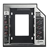 Storite 12.7mm Sata to IDE 2nd Bay Drive Caddy for Laptop 2.5' SSD Hard Disk Case Box per del Computer portatile DVD CD ROM Optical Bay (12.7mm Sata to IDE)