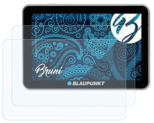 Bruni Schutzfolie kompatibel mit Blaupunkt TravelPilot 73 EU LMU / 74 EU LMU 2015 Folie, glasklare Bildschirmschutzfolie (2X)