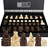 The Isle Of Lewis Chessmen - Juego de ajedrez oficial Lewis de Ajedrez 4 Queen Edition