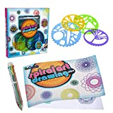 ArtCreativity Spiral Drawing Art Set for Kids - 7 Piece Kit - Includes 6-in-1 Color Pen, Drawing Templates and Sketching Pad - Unique Arts and Craft Supplies - Great Gift for Boys and Girls