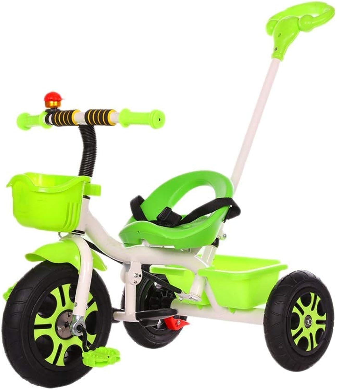 a precios asequibles Yuany Triciclo, Triciclo de Niños, Titanio, Rueda vacía, Triciclo Exterior Exterior Exterior para bebé de 1-6 años, 4 Colors (Color  verde)  tiendas minoristas