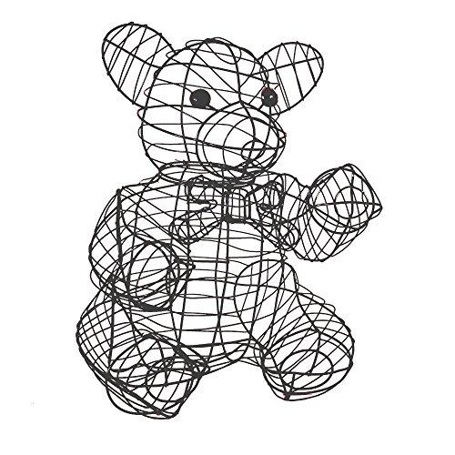 Gartenfigur Buxus-Figur Bär Teddybär für Buxus Moos Efeu 50 cm