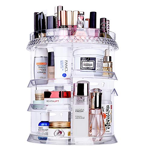 Miserwe Makeup Organizer 360 Degree Rotation 7 Layers Adjustable Storage Different Kinds of...