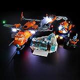 BRIKSMAX Kit de LED pour Lego City Arctique Alimentation d'avion,Compatible avec la Maquette Lego 60196, La Maquette de Construction n'est Pas Incluse