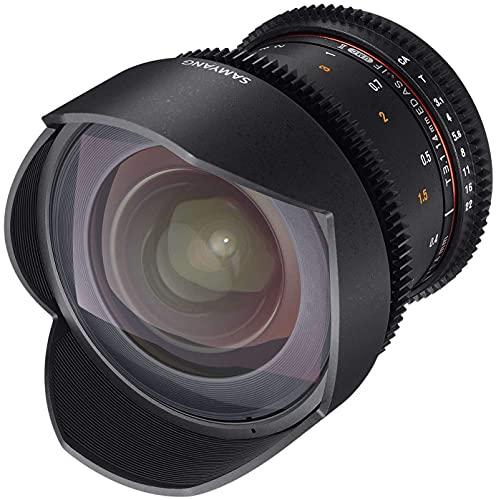Samyang Obiettivo V-DSLR 14mm T 3,1 ED AS IF UMC II per Canon, Nero