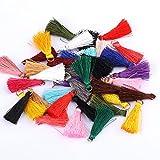 SonneSky Mini Borlas 100pcs 3cm Colgantes de Borlas Flecos en Colores
