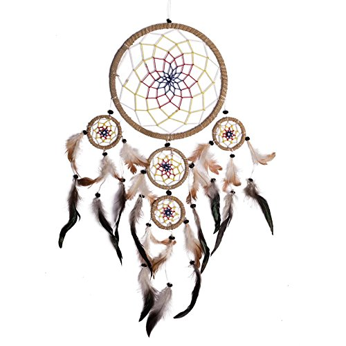 """Dreamcatcher - Traumfänger \\\""""Gute Träume\\\"""", 22 cm, Länge/Breite ca. 65/35 cm, mehrfarbiges Netz"""
