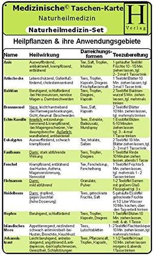 Naturheilmedizin Set - Medizinische Taschen-Karte: Naturheilkunde /Bachblüten Therapie /Schüssler-Salze (1999-01-01)