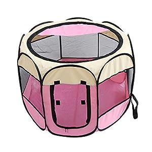 Ofanyia Tente de Parc pour Animaux de Compagnie Portable Pliant Tente pour Animaux de Compagnie Parc pour bébé Chien Chat Exercice Clôture Chenil Cage Caisse