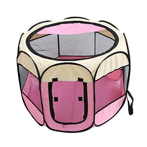 Hankyky Oxford Welpenauslauf faltbar Welpenlaufstall Tierlaufstall für Hunde Hasen Meerschweinchen Katzen für innern oder außen