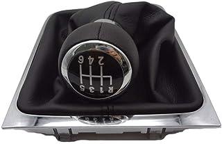 Für Passat B6 CC 3C R36 TDI 2005 2006 2007 2008 2009 2010 2011 2012 2013 Auto 5 Geschwindigkeit 6 Gang Auto Shift Schaltknauf Galtor Boot Abdeckung Schaltknauf Schalthebel ( Größe : 6 GANG )