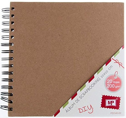 MP PD140-02 - Album para scrapbooking, 20 x 20 cm, 200 gr, color kraft