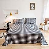 Xiaomizi 40 sábanas de algodón de estilo simple a cuadros de un solo producto de algodón funda de almohada