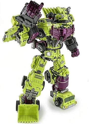 Optimus Prime Spielzeug Transformers Engineering Devastator Green Combiner Transformando Robot Cars Juguetes 6 en 1 Conjuntos de camiones para regalos de cumpleaños para niños Transformers Optimus Pri