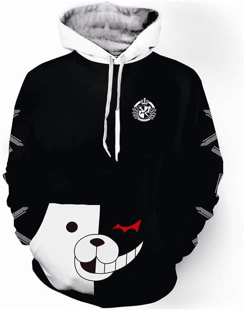 Anime Danganronpa Monokuma Cosplay Unisex Jacket Hoodie Sweatshirt Pullover Coat
