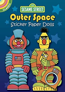 Sesame Street Classic Outer Space Sticker Paper Dolls (Sesame Street Paper Doll) (English and English Edition)