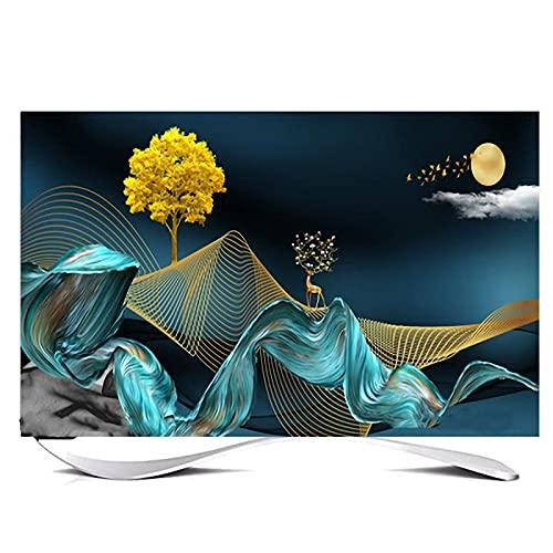 Huis 65in Indoor TV Dust Cover, Cover Type TV Screen Protector Voor Lcd Led Decoratie Televisie Set Cover Waterdichte…