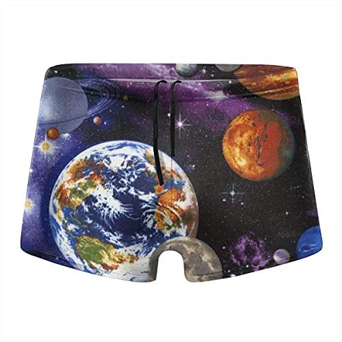 XCNGG Universe Stars Calzoncillos Tipo bóxer de Secado rápido para Hombres Bañadores Shorts Trunks Swimsuit-M