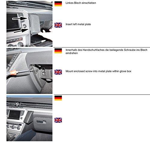 KUDA 1665 Halterung Kunstleder schwarz für VW Passat (B8 (3G)) ab 2014 / VW Arteon ab 2017
