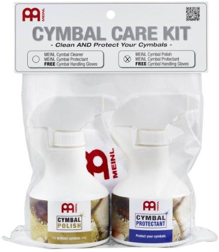 Meinl Cymbals MCCK-MCP Becken Pflegeset mit 250ml Politur und 250ml Oberflächenversiegelung inklusive gratis Paar Meinl Handschuhe