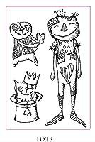 DIYスクラップブッキング/カード作成/キッズクリスマス楽しい装飾用品ST0760用の漫画の透明なクリアスタンプ
