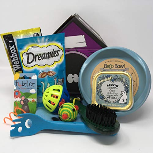 Pet Presents CAT TREAT GIFT HAMPER - BLUE