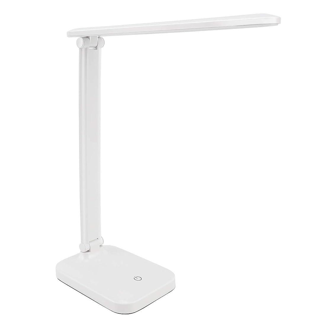 日曜日サラミ拳FAMII LED デスクライト 電気スタンド 卓上ライト USB充電コード付き タッチパネル機能 3段階光量調節 目に優しい ポータブル 省エネ