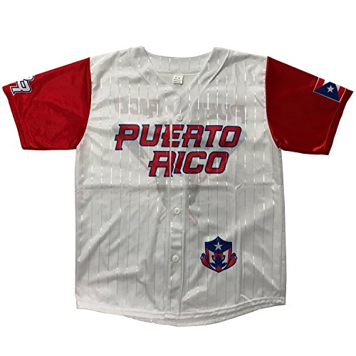 Jersey Baseball Puerto Rico (Small - Medium)