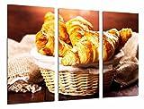 Poster Fotográfico Croissant, cruasan, panaderia, cafeteria Tamaño total: 97 x 62 cm XXL