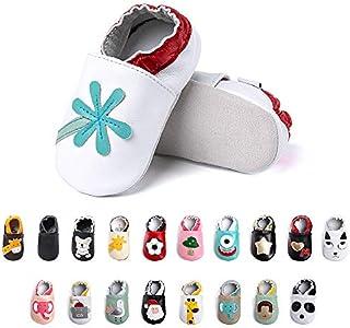 Primeros Pasos Bebe Niña Niños Zapatos Zapatillas de Estar por Casa Pantuflas Calzado Botitas y Patucos Infantiles Piel Sintético Casual Antideslizante-2 BMY 0-6 Meses