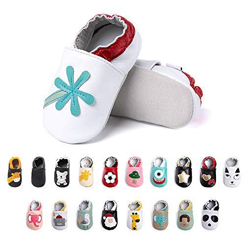 Primeros Pasos Bebe Niña Niños Zapatos Zapatillas de Estar por Casa Pantuflas Calzado Botitas y Patucos Infantiles Piel Sintético Casual Antideslizante-2 BMY 0-6 Meses 🔥