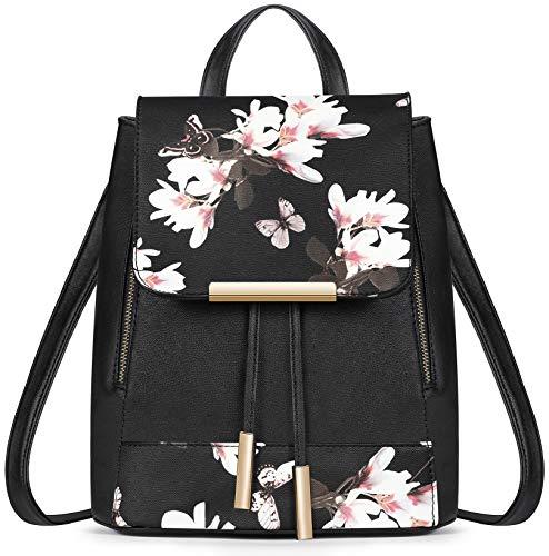 TIBES petit Daypack sac à dos étanche casual pour les filles Noir 2