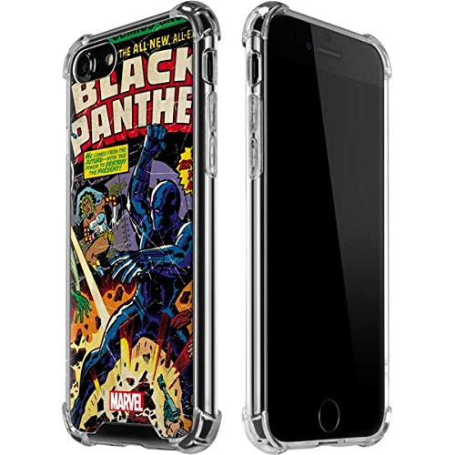 Skinit Clear Phone Case Compatible with iPhone 8 - Officially Licensed Marvel/Disney Black Panther vs Six Million Year Man Design