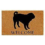 Calloway Mills AZ105742436 Pug Doormat, 24' x 36', Natural/Black