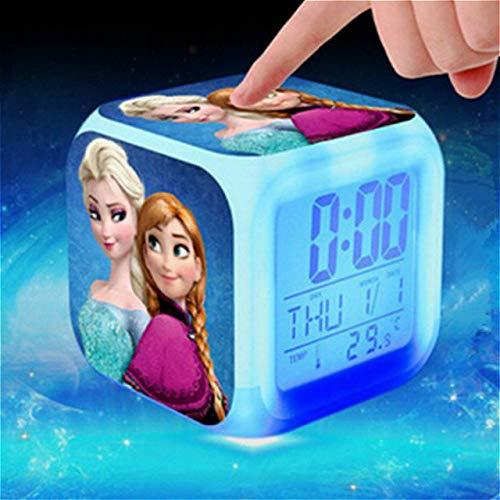 ShiyueNB Digitale wekker, superhelden voor kinderen, Spider Man LED-wekker, Batman, Movie, Wake Up Captain America wekker, horloge