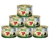 Dehner Best Nature Katzenfutter Adult, Rind und Pute mit Karotten, 6 x 200 g (1.2 kg)